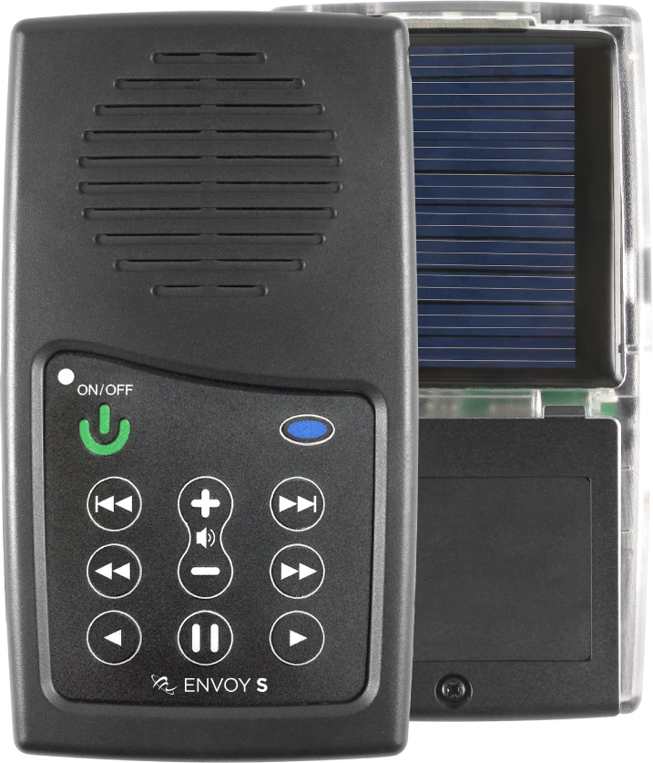 Solar audio Bible with tamper proof audio content